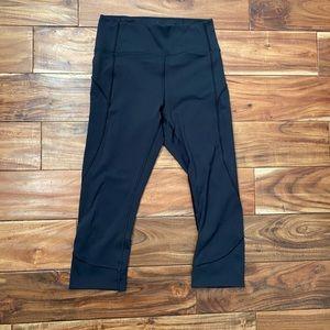 Lululemon high rise black crop pants